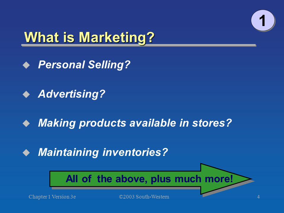 1 What is Marketing Personal Selling Advertising