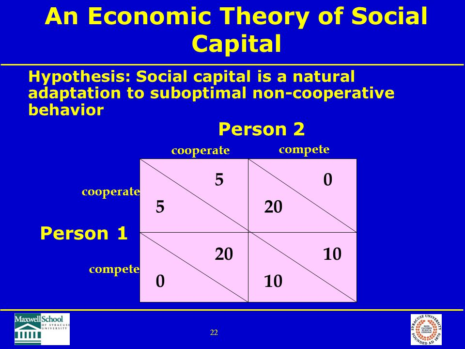 Discuss the concept social capital with