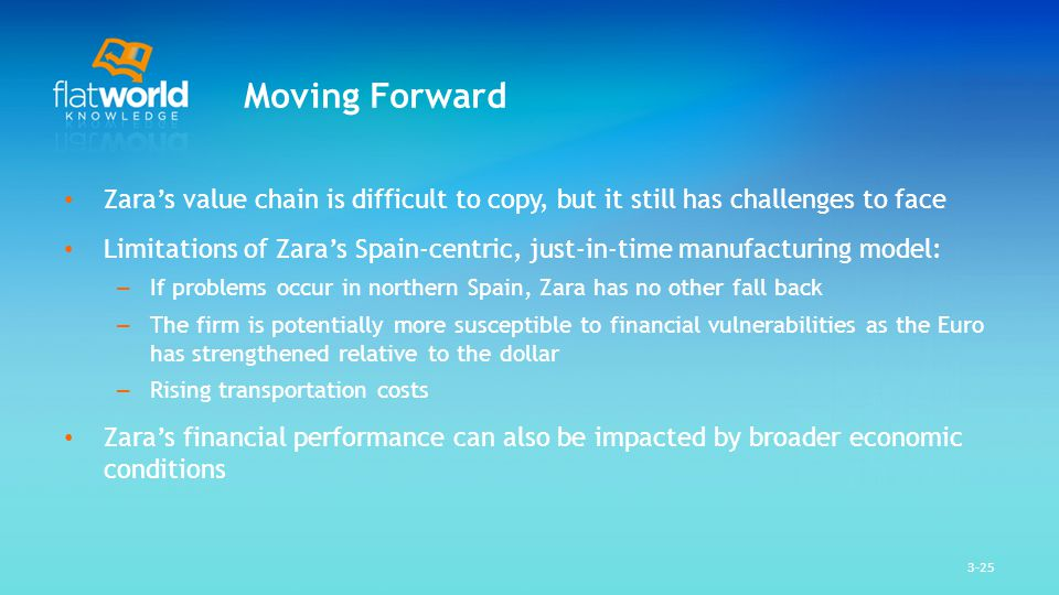 internal challenges that zara is facing Just a few of the challenges i see businesses facing that are best addressed with the help of a consultant include: uncertainty about the future being able to predict customer trends, market trends, etc is vital to a changing economic climate, but not every ceo has warren buffett-like predictive powers.