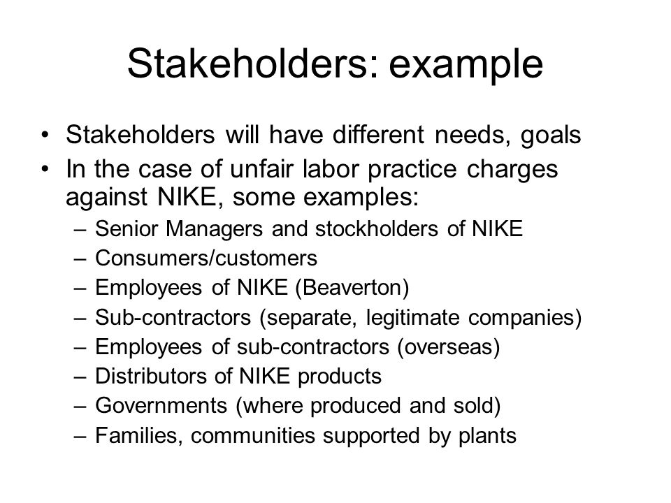 an analysis of nike and international labor practices Fair labour practices set out in international labour standards and applied through a national legal system ensure an efficient and stable labour market for workers and employers alike in many developing and transition economies, a large part of the work- force is active in the informal economy.