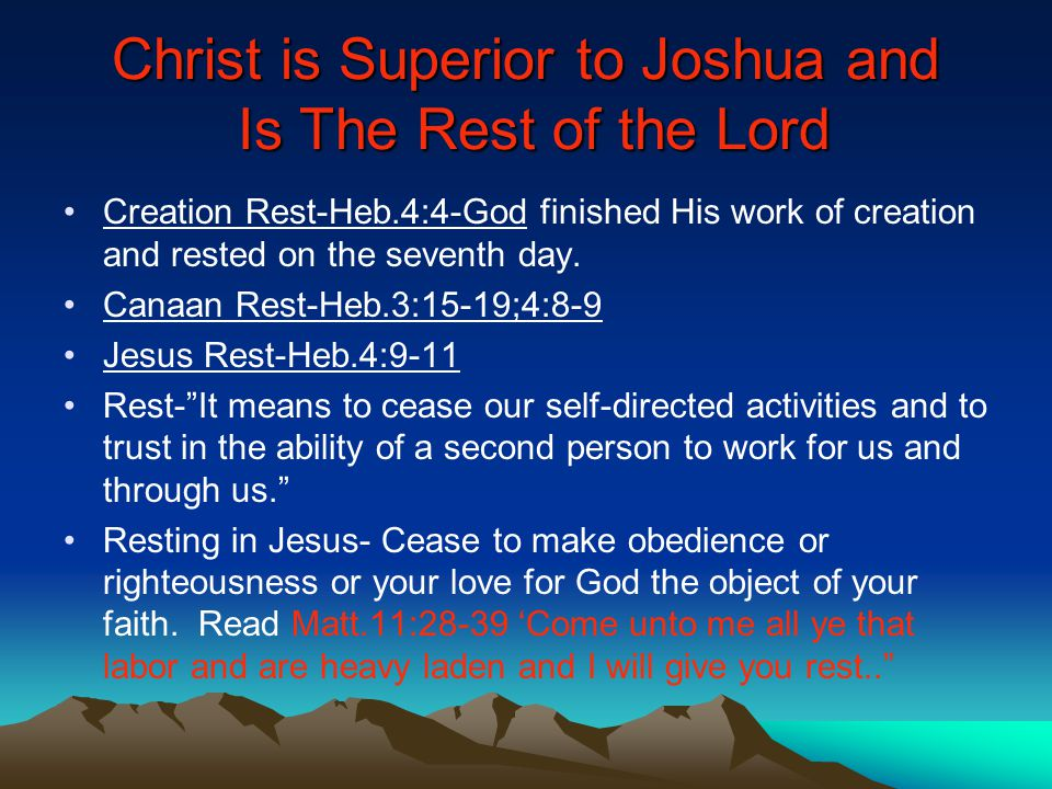 the emphasis of hebrew on jesus christs superiority and lordship Himself under god's rulership and submits his life to the lordship of jesus  christ  as well, the specific hebrew words used to describe the woman as a  helper  usages refer specifically to help coming directly from god in a superior  form.