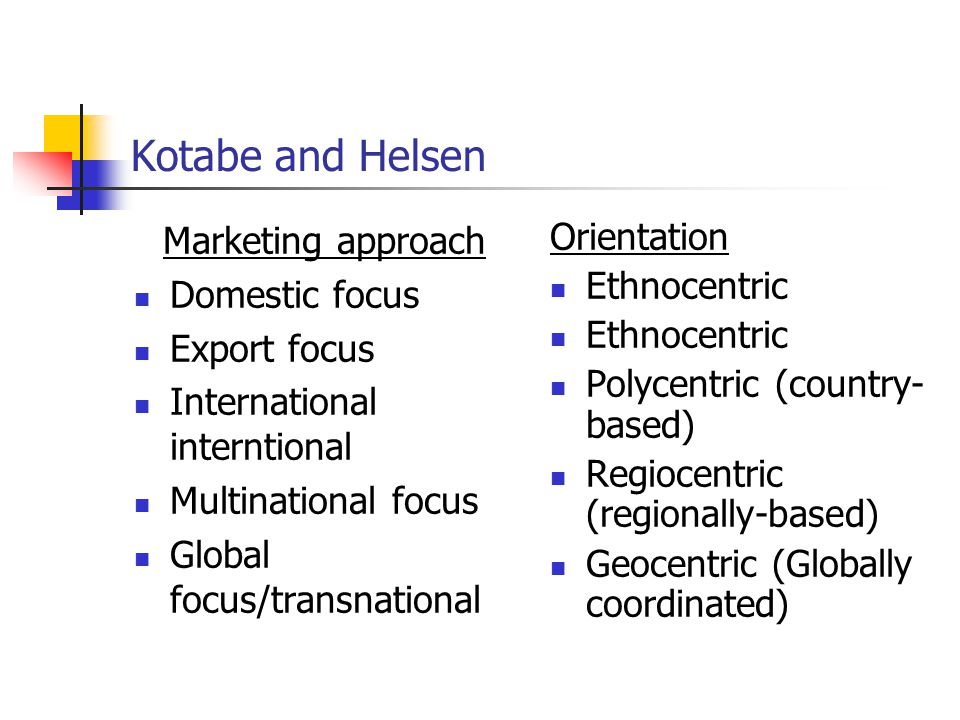 global marketing a decision oriented approach