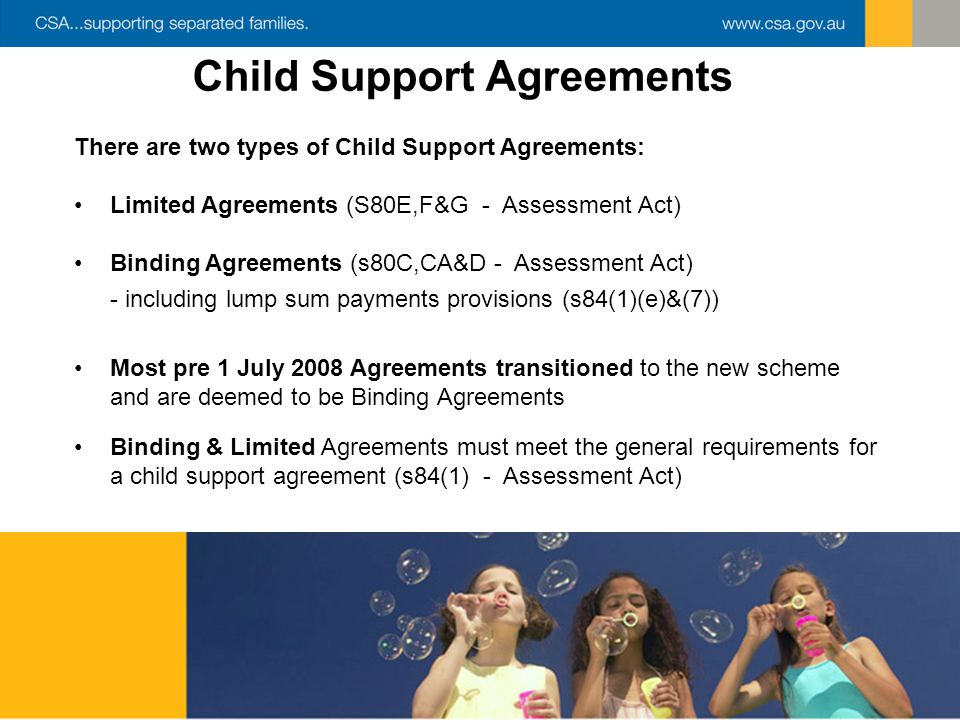 how to register a binding child support agreement