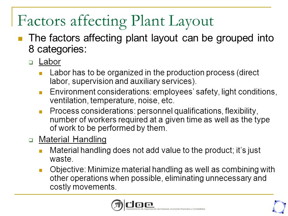 what are the factors affecting plant layout Factors affecting construction labor productivity 3 3 unique projects no two construction projects are exactly the same and vary in many ways such as design.