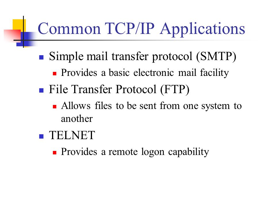 Common TCP/IP Applications