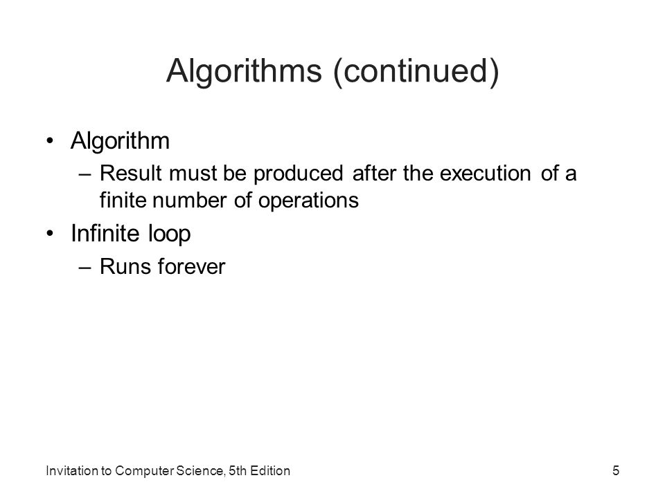 Algorithms (continued)