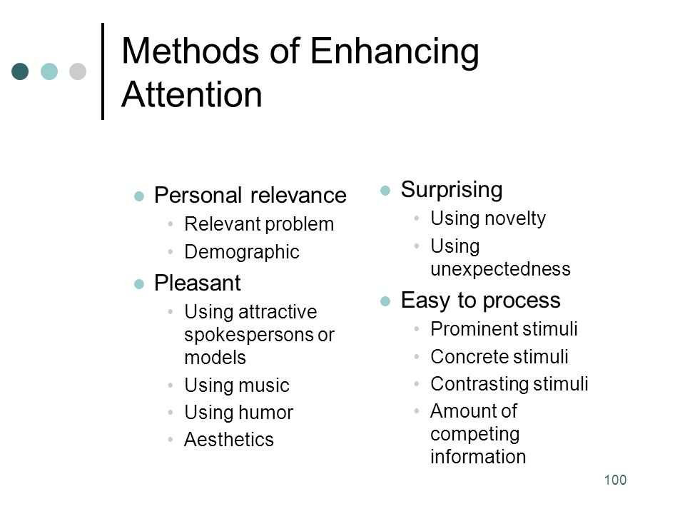 Methods of Enhancing Attention