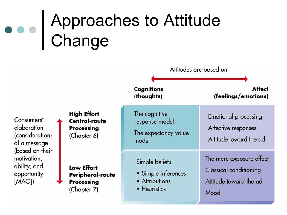 Approaches to Attitude Change