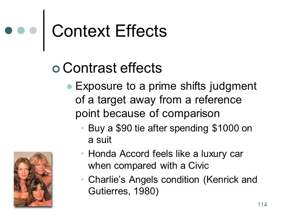 Context Effects Contrast effects
