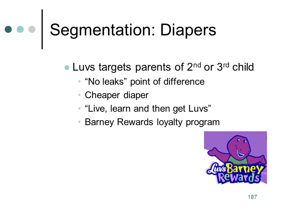 Segmentation: Diapers