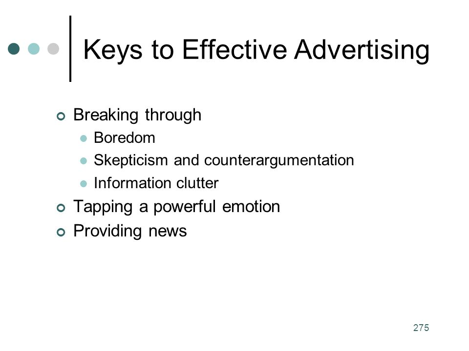 Keys to Effective Advertising
