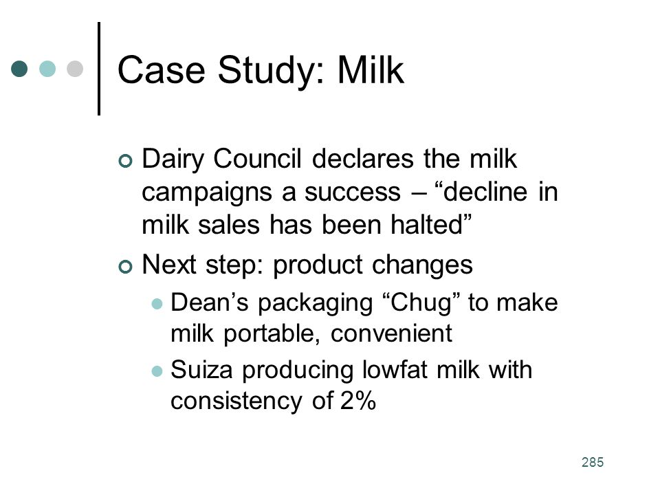 Case Study: Milk Dairy Council declares the milk campaigns a success – decline in milk sales has been halted