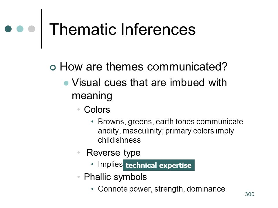 Thematic Inferences How are themes communicated