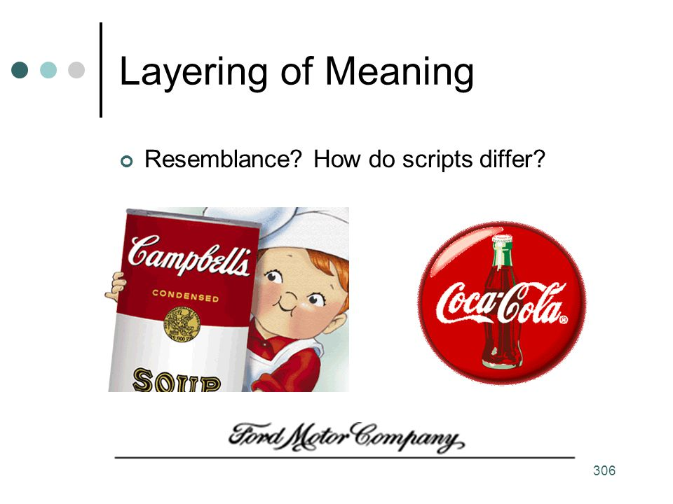 Layering of Meaning Resemblance How do scripts differ