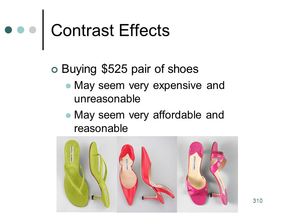Contrast Effects Buying $525 pair of shoes