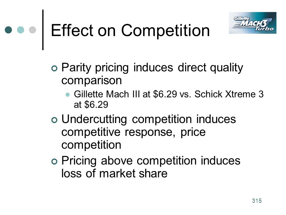 Effect on Competition Parity pricing induces direct quality comparison