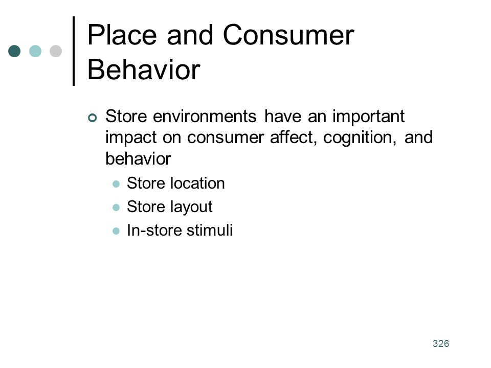 Place and Consumer Behavior