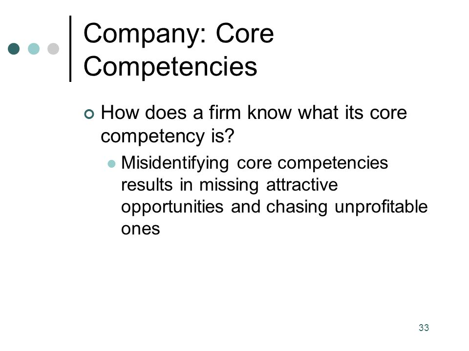 Company: Core Competencies