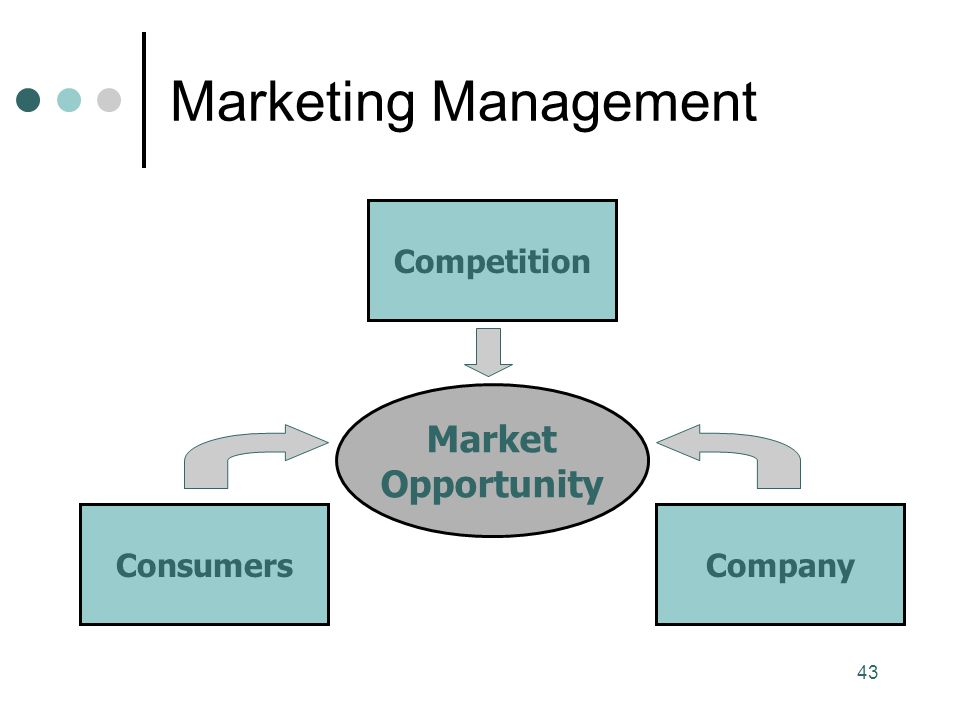 Marketing Management Competition Market Opportunity Consumers Company