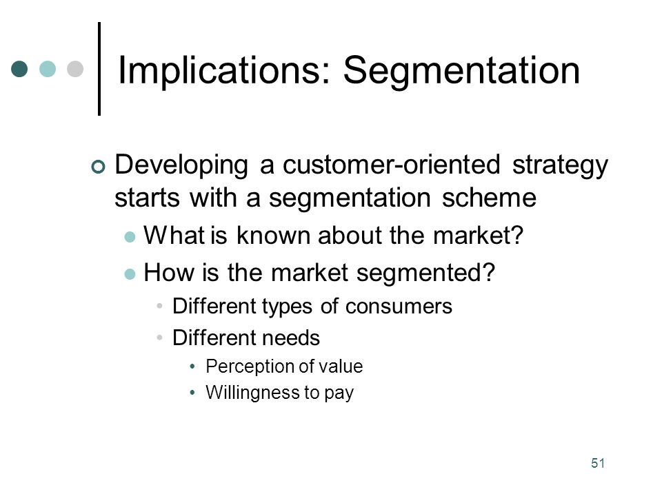 Implications: Segmentation