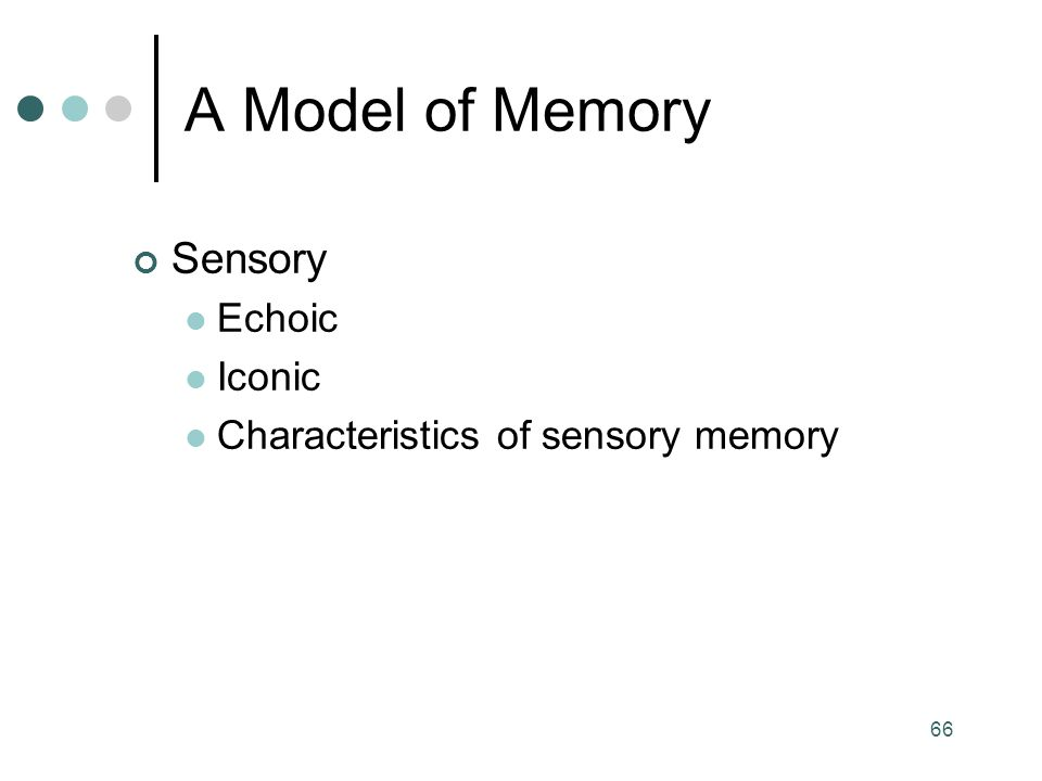 sensory memory model Sensory memory (sm) allows individuals  the transfer of sm to stm is the first step in the atkinson–shiffrin memory model which proposes a structure of memory .