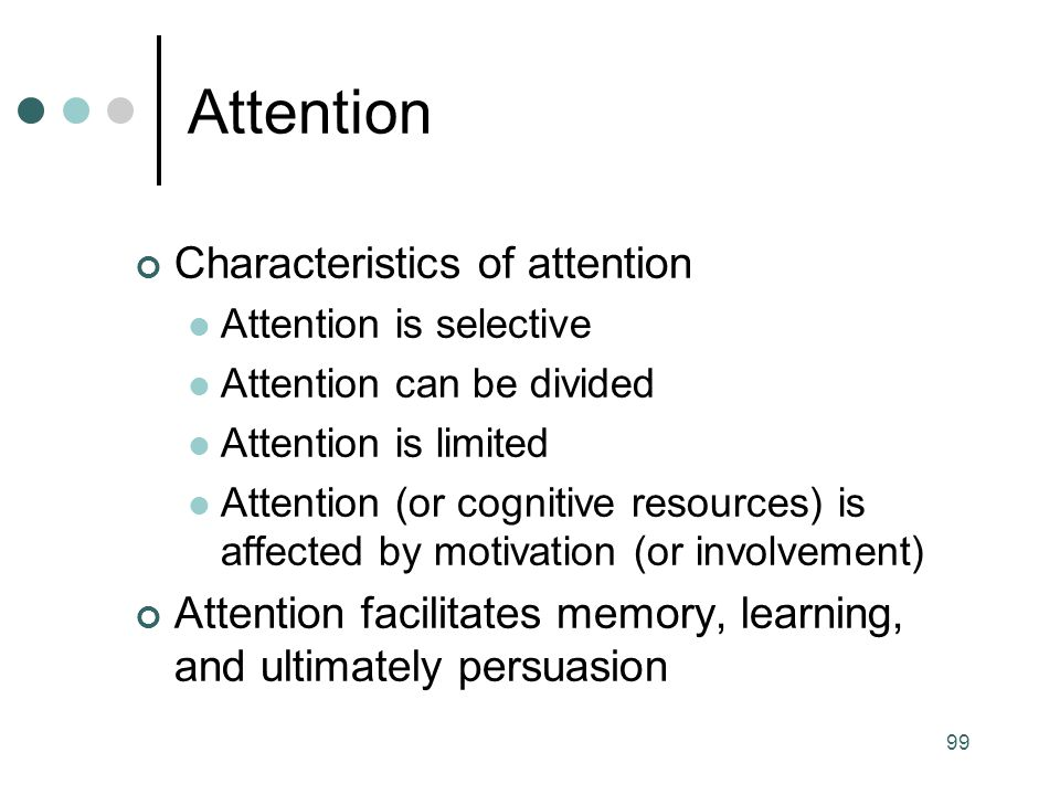 Attention Characteristics of attention