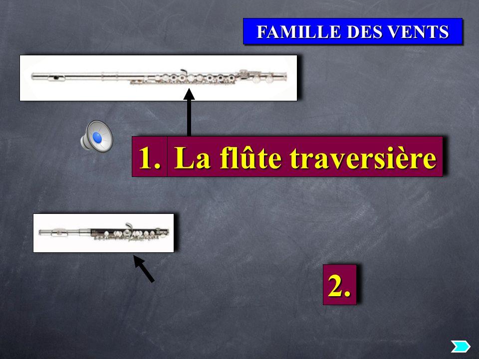 FAMILLE DES VENTS 1. La flûte traversière 2.