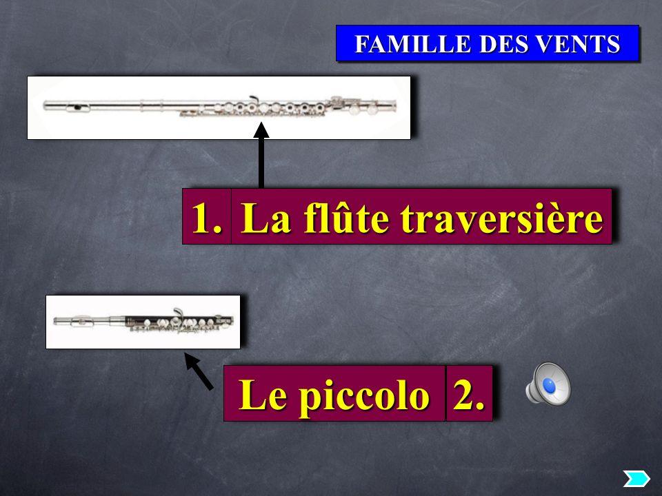 1. La flûte traversière Le piccolo 2.
