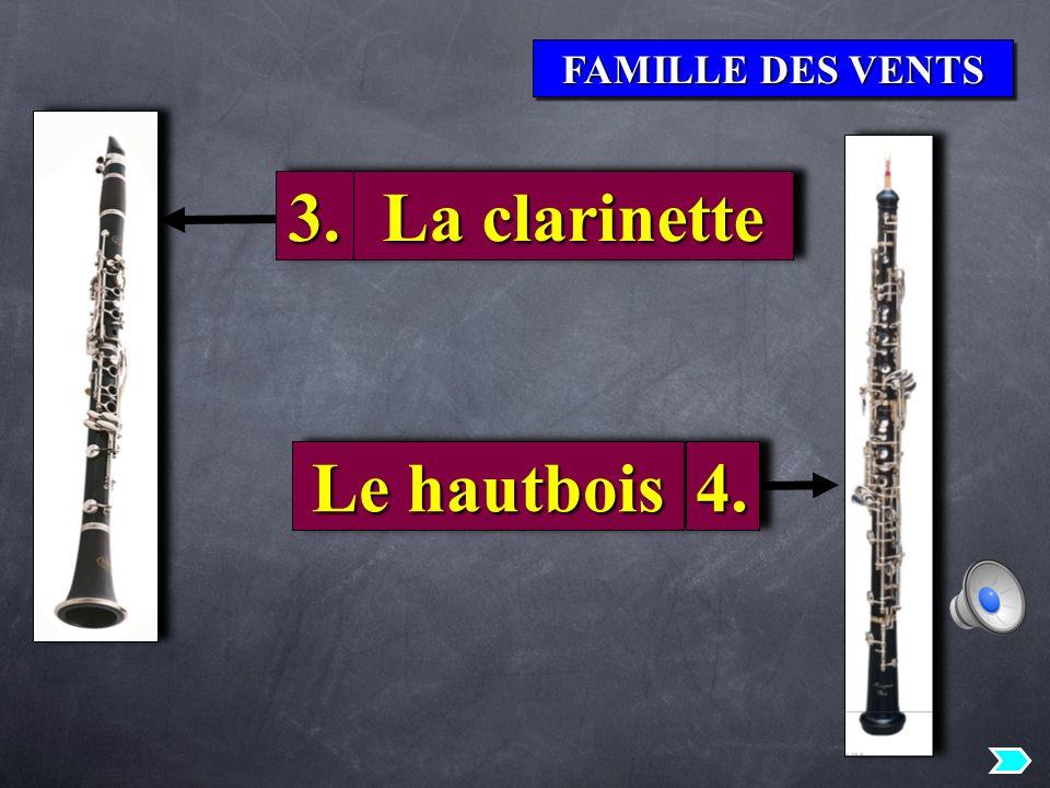 3. La clarinette Le hautbois 4.