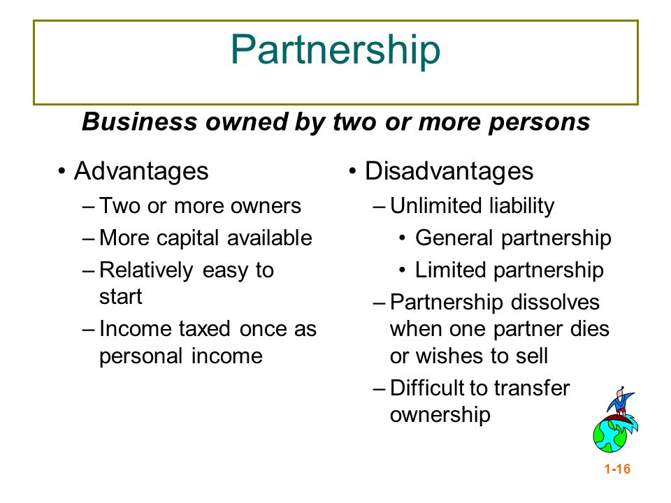 Business owned by two or more persons