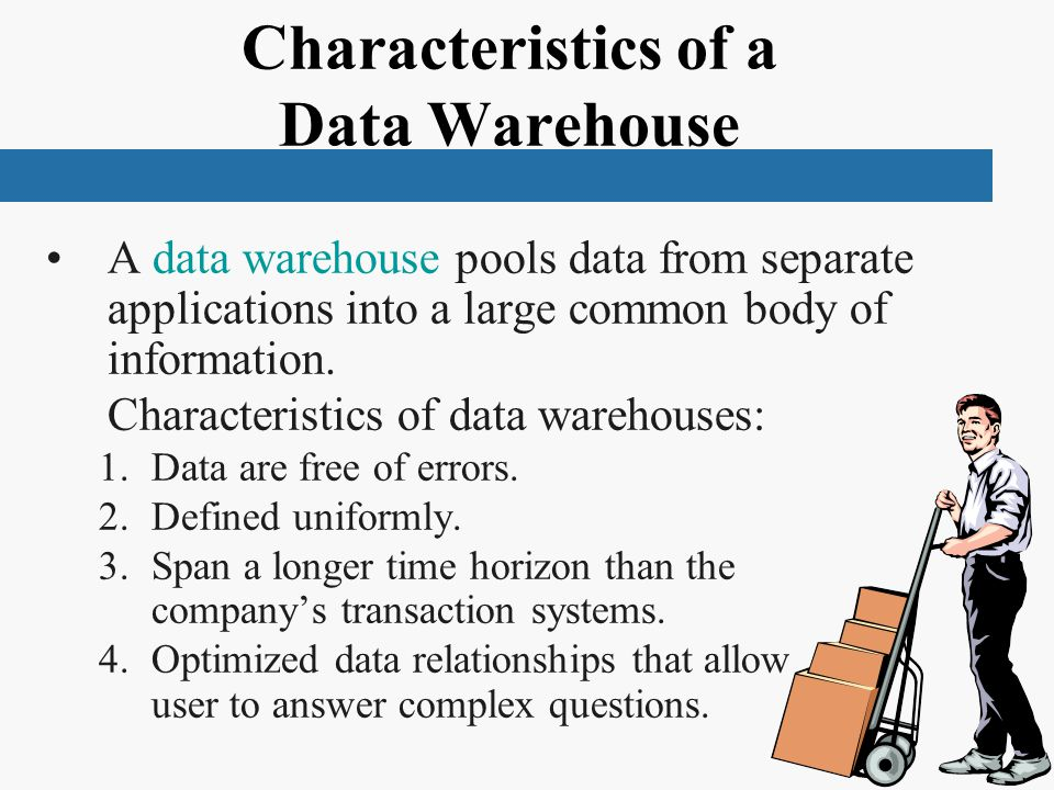 Characteristics of a Data Warehouse