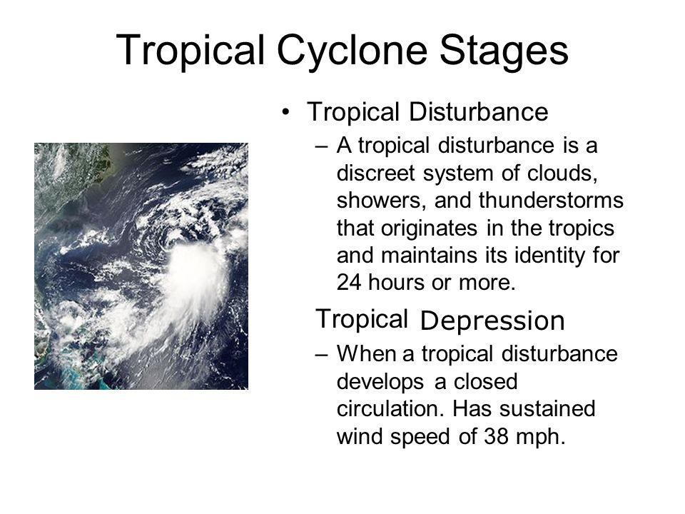 Tropical Cyclone Stages