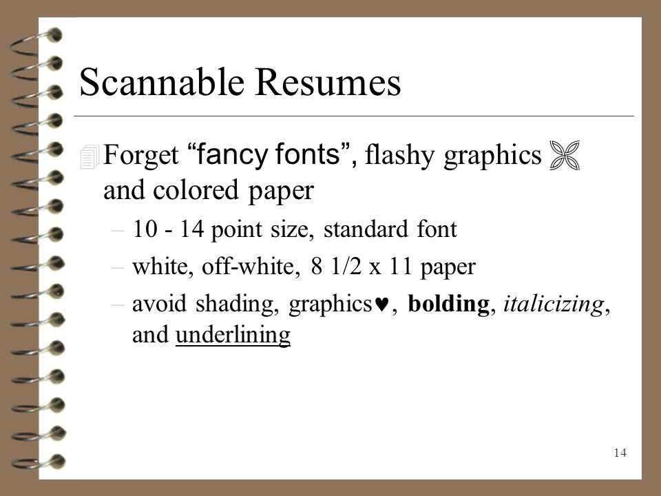 14 Scannable ...  What Is A Scannable Resume