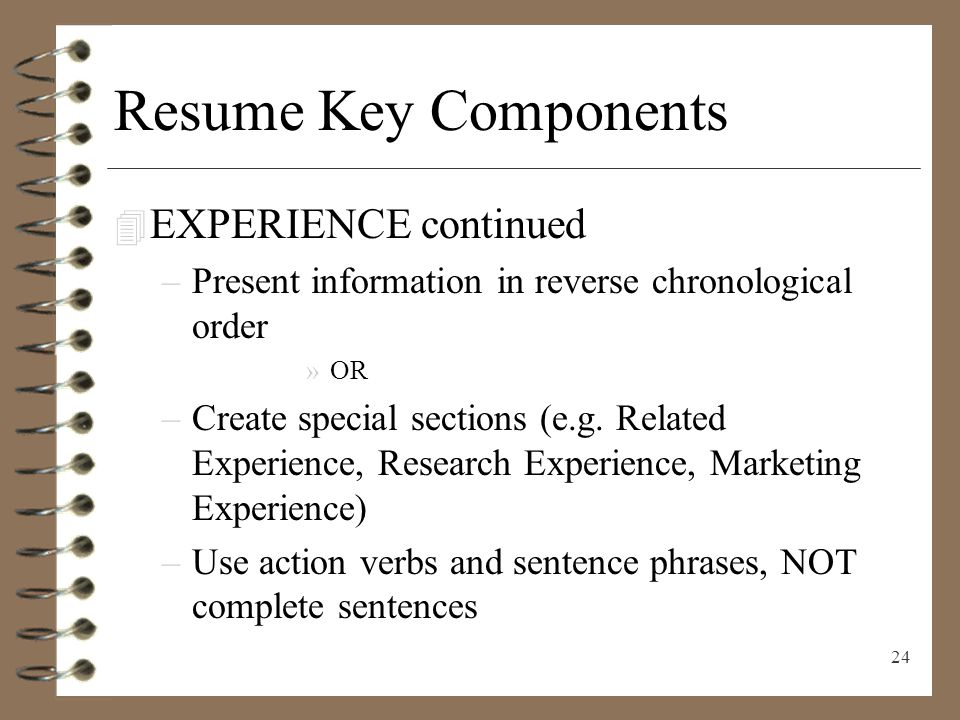 resume writing presenting yourself on paper ppt