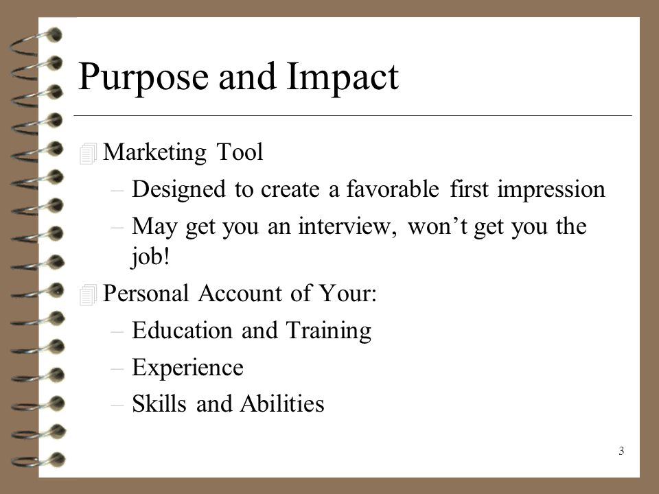 Resume Writing Presenting Yourself On Paper Ppt Download