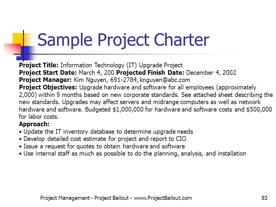 project charter sample 1
