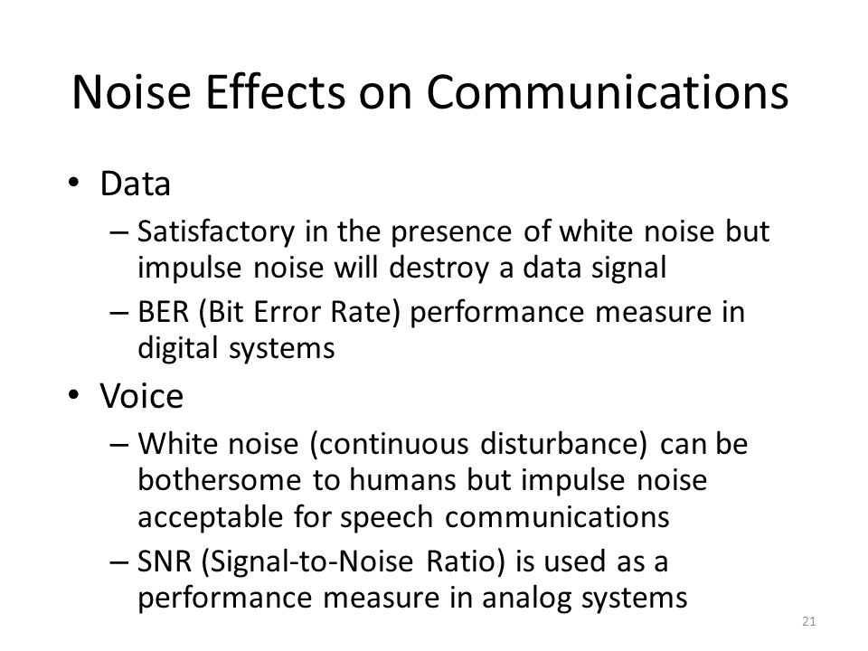 effects of noise in a data communication Cardiovascular effects of noise on man – wolfgang babisch 169th  we need it for communication,  in risk than the earlier studies where noise data were area.