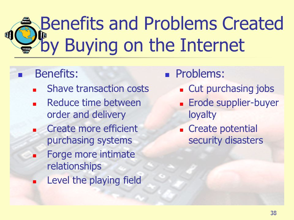Benefits and Problems Created by Buying on the Internet