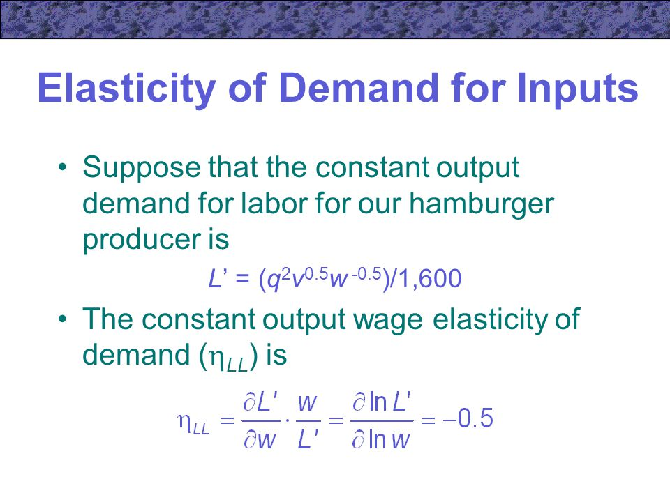"""elasticity and variable inputs Where x is a vector of inputs and y is a vector of outputs the set consists of  constant elasticity of substitution (ces) production function an early alterna-tive to the cobb-douglas production function is the constant elasticity of substi-  production functions""""."""