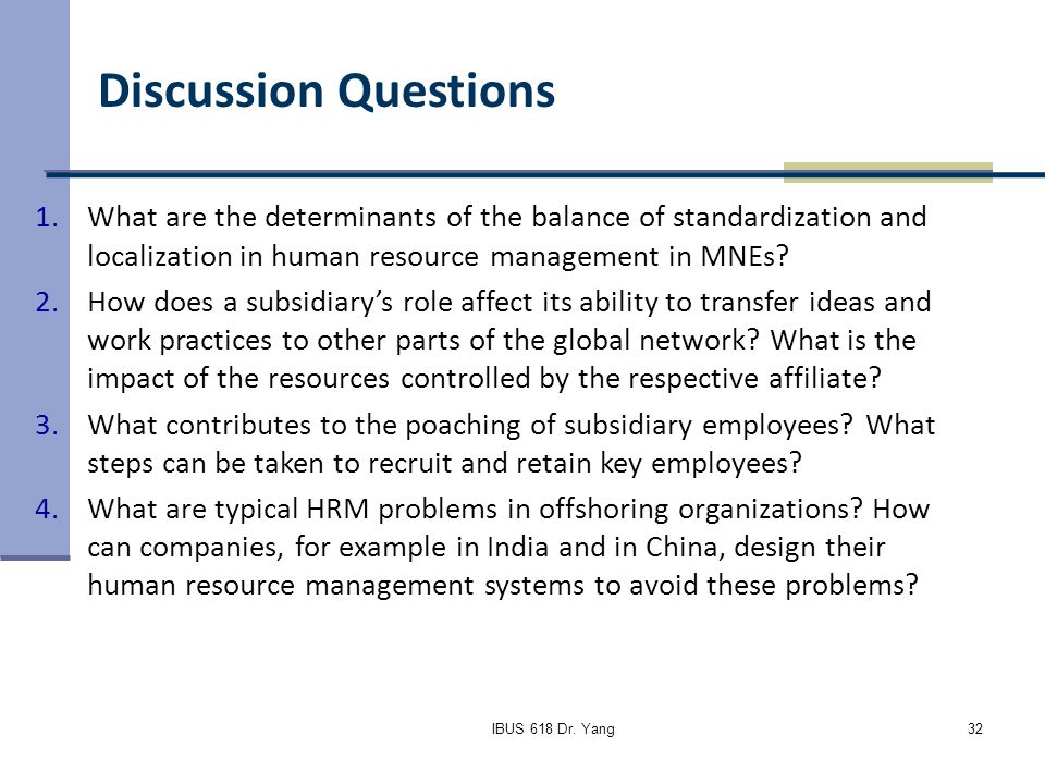 the balance of standardization and localization of human resource management in mne Intercultural rewards  the balance between global standardization and localization of  last part of the module on intercultural human resource management.