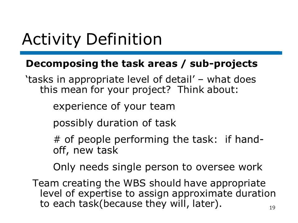 team member assignment level activity level