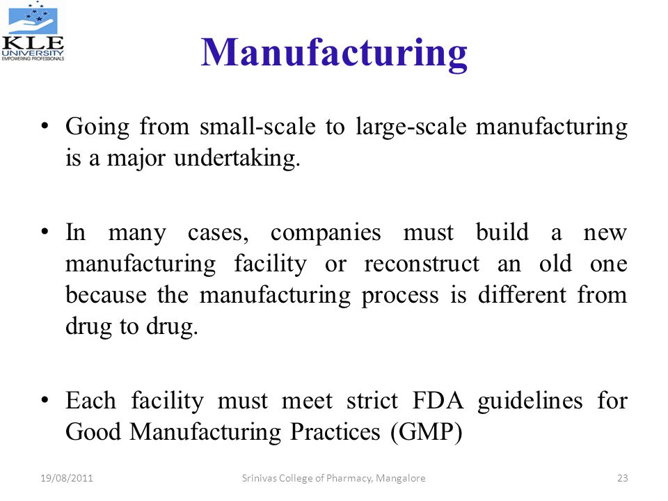 fda good manufacturing practices guidelines