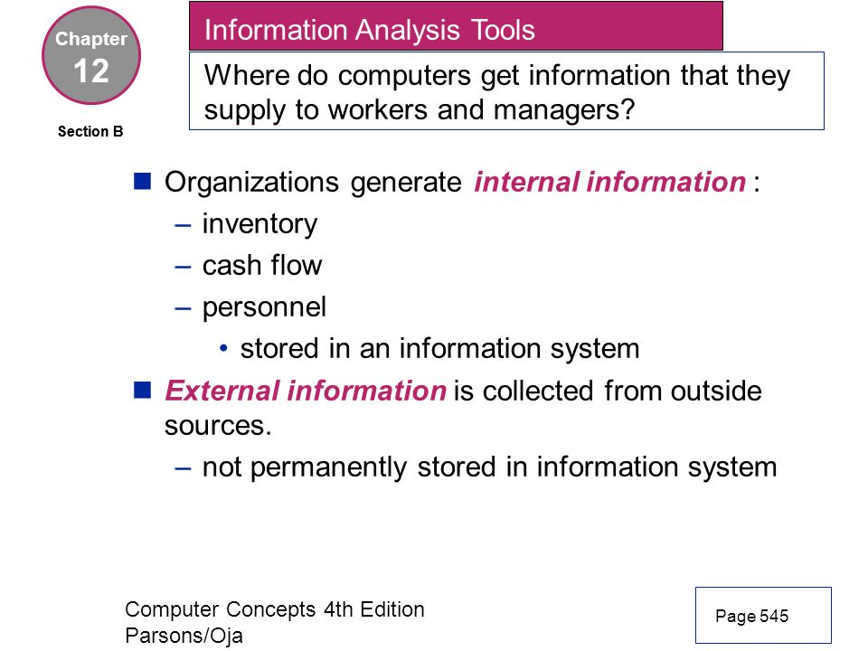 12 Information Analysis Tools