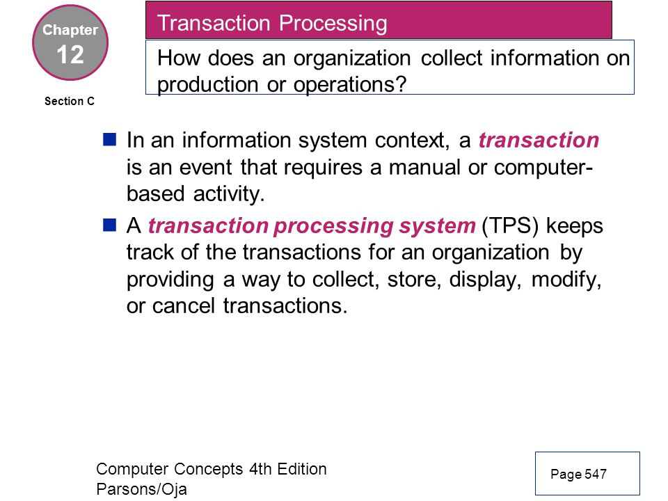 12 Transaction Processing