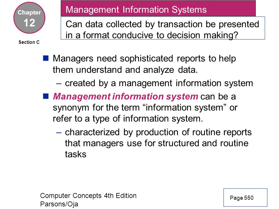 12 Management Information Systems