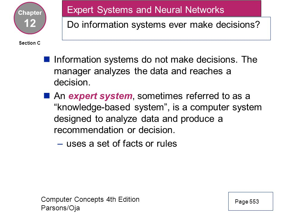 12 Expert Systems and Neural Networks