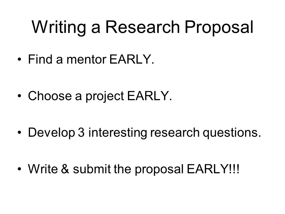 Dst Research Proposal