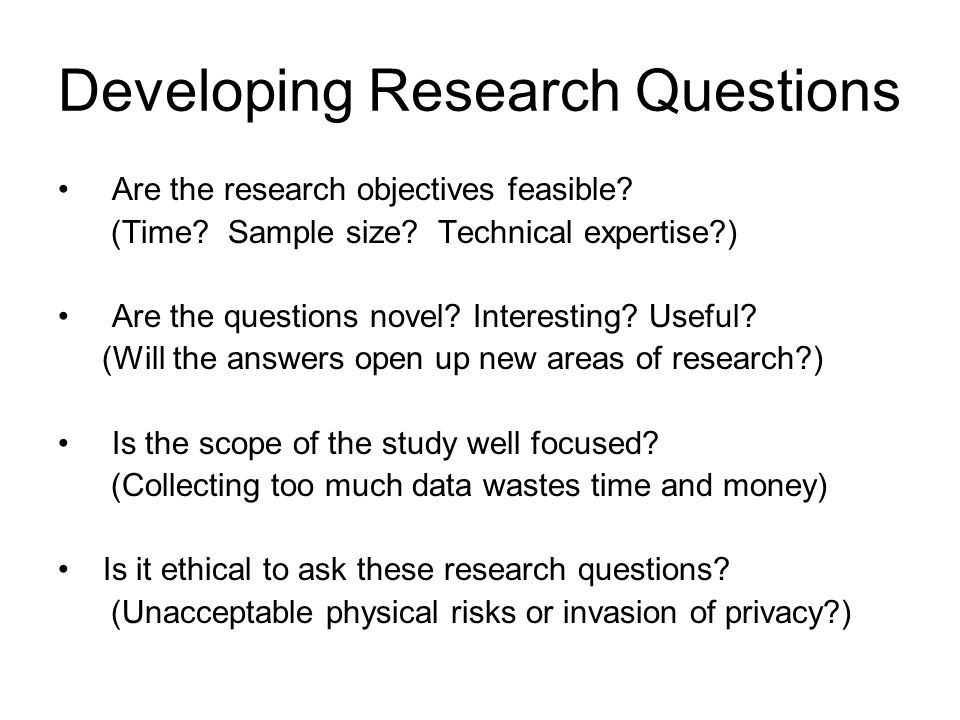 Guidelines in writing research objectives sample