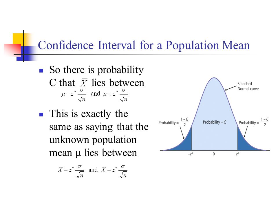 Confidence Interval for a Population Mean