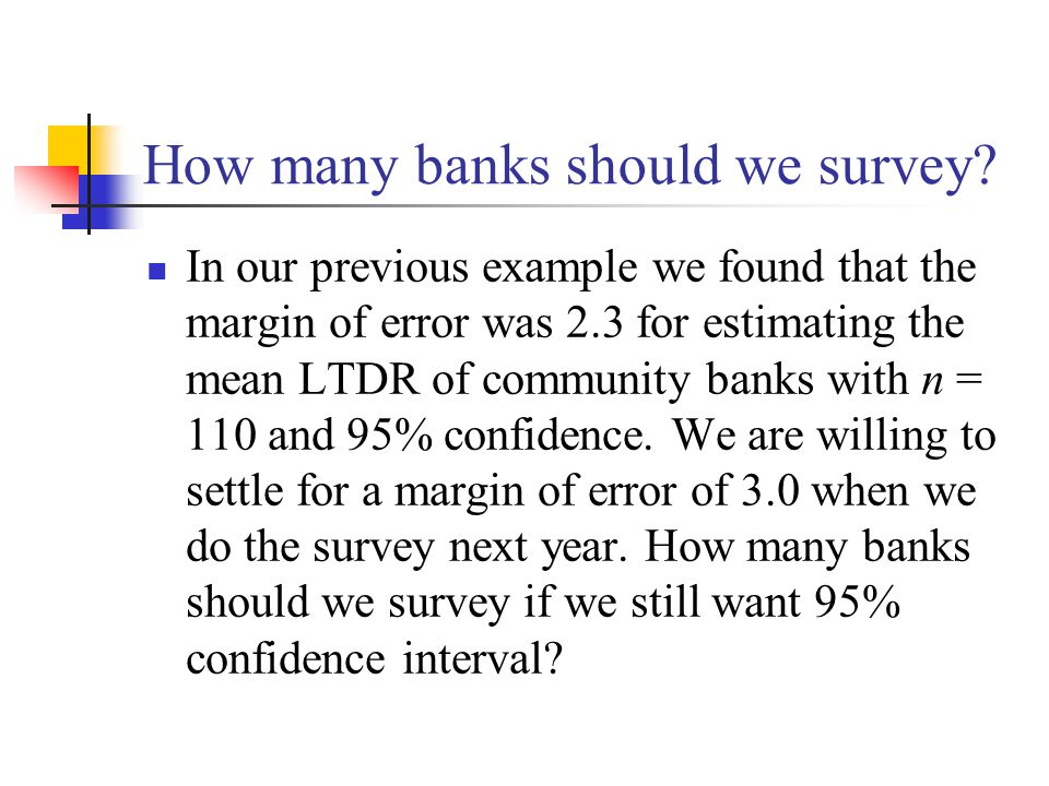 How many banks should we survey